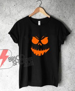 Scary Pumpkin Halloween T Shirt - Funny's Shirt On Sale