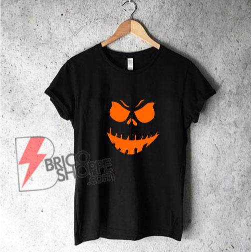 Scary Pumpkin Halloween T Shirt - Funny's Shirt On Sale