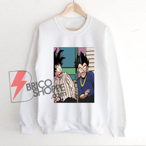 Friday-Damn-Meme-Son-Goku-And-Vegeta-Dragon-Ball-Sweatshirt---Funny's-Sweatshirt-On-Sale