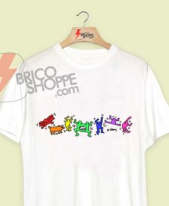 Keith-Haring-Pride-Party-Shirt---Funny's-Shirt-On-Sale
