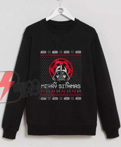Merry-Sithmas-Sweatshirt---Funny-Star-wars-Christmas---Funny-dark-Vader-Xmas---Parody-Star-Wars-Sweatshirt