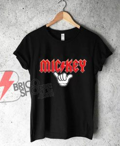 Mickey-Metal-hand---Funny's-Mickey-Mouse-Metal-Shirt---Disney-Shirt-On-Sale