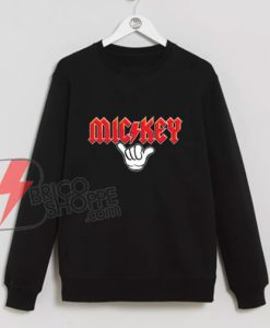 Mickey Metal hand – Funny's Mickey Mouse Metal Sweatshirt – Disney Sweatshirt On Sale