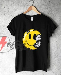 Smiley-Face-Skull-Smile-Skeleton-Shirt-Halloween-Shirt---Funny's-Shirt-On-Sale