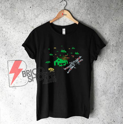 Star Wars space invaders - T-shirt - funny's shirt on sale