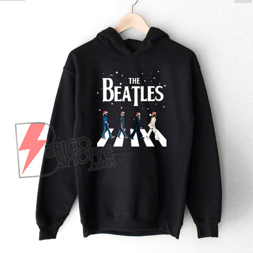 The-Beatles-Abbey-Road-Christmas-Hoodie---The-Beatles-Christmas-Hoodie---Funny's-The-Beatles-Hoodie