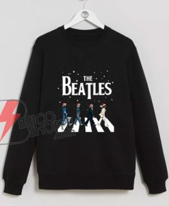 The Beatles Abbey Road Christmas Sweatshirt - The Beatles Christmas Sweatshirt - Funny's The Beatles Sweatshirt