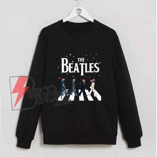 The Beatles Abbey Road Christmas Sweatshirt - The Beatles Christmas Sweatshirt - Funny's The Beatles Sweatshirt