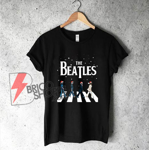 The-Beatles-Abbey-Road-Christmas-T-Shirt---The-Beatles-Christmas-Shirt---Funny's-The-Beatles-Shirt