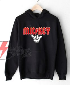 Mickey Metal hand - Funny's Mickey Mouse Metal Hoodie - Disney Hoodie On Sale