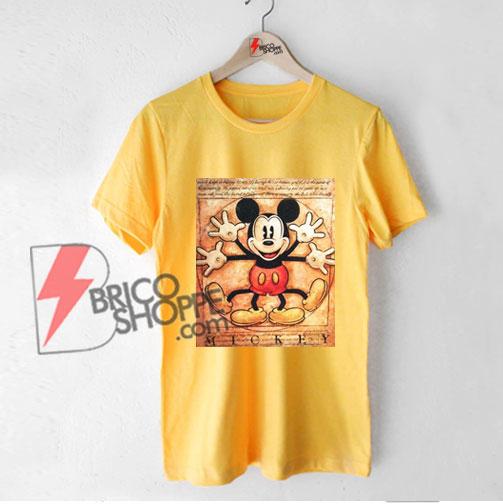 Vintage-Mickey-Mouse---Vitruvian-Mickey-Mouse---Funny's-Mickey-Mouse-Shirt---Parody-Leonardo-da-Vinci-Shirt