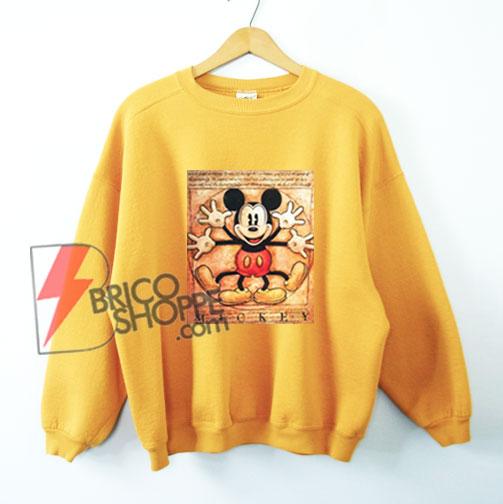 Vintage-Mickey-Mouse---Vitruvian-Mickey-Mouse---Funny's-Mickey-Mouse-Sweatshirt---Parody-Leonardo-da-Vinci-Sweatshirt