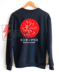 MICKEY MOUSE JAPANESE Sweatshirt – Funny Mickey Mouse Sweatshirt – Disney Vacation Sweatshirt