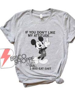 800-eat-shit---Funny-mickey-mouse-Shirt---Funny-Shirt-Grey