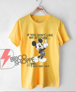 800-eat-shit---Funny-mickey-mouse-Shirt---Funny-Shirt-Yellow