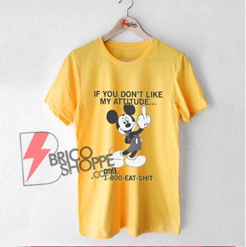 800-eat-shit---Funny-mickey-mouse-Shirt---Funny-Shirt-Yellow