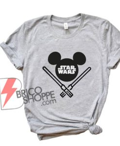 STAR WARS Mickey Mouse Shirt - Funny Star Wars Shirt - Funny Disney Shirt