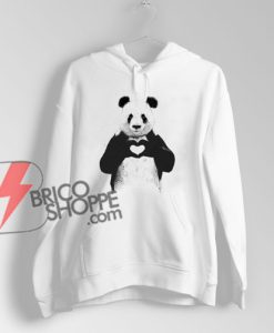 ALL YOU NEED IS LOVE panda Hoodie – Funny Hoodie On Sale