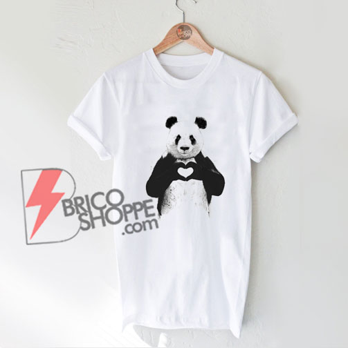 ALL-YOU-NEED-IS-LOVE-panda-Shirt-–-Funny-T-Shirt-On-Sale