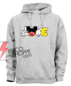 Love Mickey Mouse Hand – Funny Disney Mickey Mouse Hoodie – Mickey Mouse Hoodie – Vacation Disney Hoodie