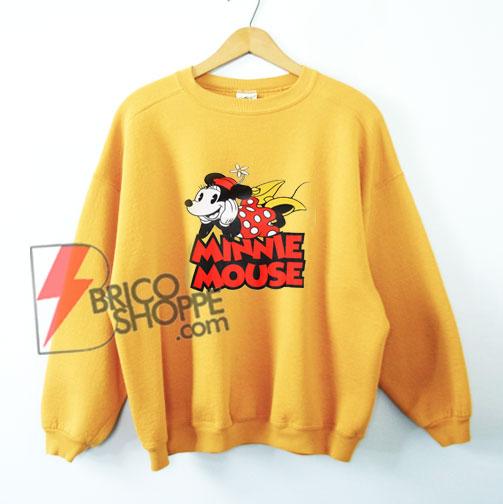 MINNIE MOUSE Sweatshirt - Vintage Minnie Mouse Shirt - Sweatshirt - Vacation Disney Sweatshirt