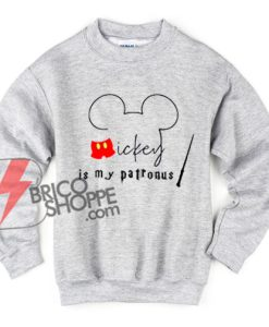 Mickey-Mouse-Is-My-Patronus-Sweatshirt---Funny-Sweatshirt-On-Sale