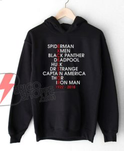 Stan Lee Excelsior Marvel Movie Name Hoodie - Funny Hoodie On Sale