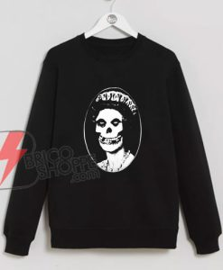 The Misfits Skull Her Majesty Queen British Punk Band Sweatshirt - Sweatshirt On Sale