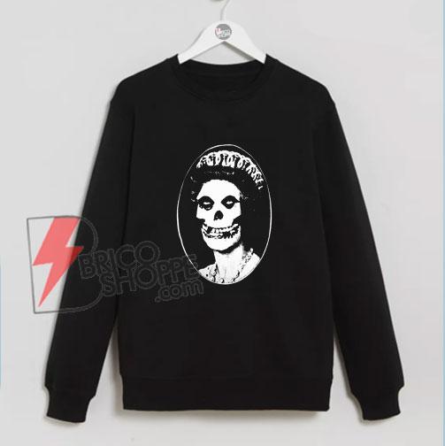 The Misfits Skull Her Majesty Queen British Punk Band Sweatshirt - Sweatshirt On Sale