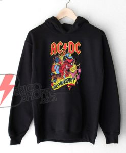 Vintage AC DC Shirt - ACDC ARE YOU READY Hoodie - Funny Hoodie On Sale