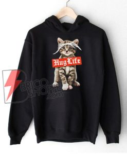 CAT HUG LIFE Sweatshirt - HUG LIFE T-Sweatshirt- Cat Lover Sweatshirt - Funny Cat Sweatshirt