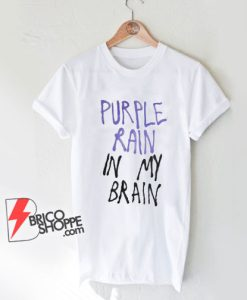 PURPLE RAIN In MY BRAIN T-Shirt - Lady Gaga Shirt - Funny Shirt