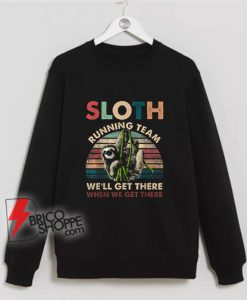 SLOTH RUNNING TEAM Sweatshirt - Funny Sweatshirt On Sale