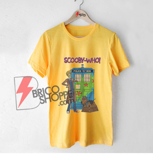 Tardis-Scooby-Who---Funny-Doctor-Scooby-Police-Box-Shirt---Parody-T-Shirt-Yellow