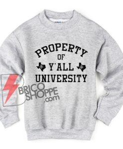 Y'all-University-Sweatshirt--–-property-of-y'all-university-Sweatshirt---Vintage-Sweatshirt
