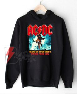 ACDC Blow Up Your Video World Tour 1988 Band Hoodie – Vintage ACDC Hoodie – Funny Hoodie On Sale