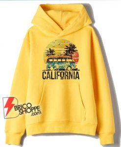 California Retro Surf Vintage Van Surfer Surfing Distressed Hoodie – Funny Hoodie On Sale