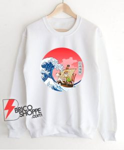Going Merry x The great wave off kanagawa Sweatshirt - Funny Going Merry Sweatshirt