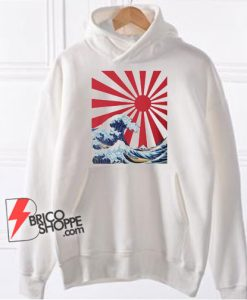 Great Wave off Kanagawa Rising Sun Hoodie - Funny Hoodie On Sale
