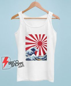 Great Wave off Kanagawa Rising Sun Tank Top - Funny Tank Top On Sale