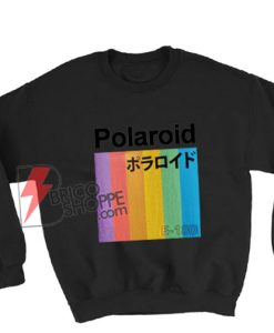 Polaroid Japanese Sweatshirt - Funny Sweatshirt On Sale
