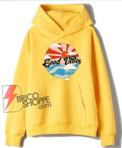 Retro Good Vibes Hoodie - Funny Hoodie On Sale