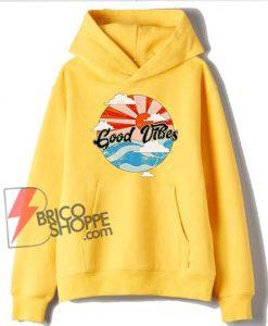Retro Good Vibes Hoodie - Funny Hoodie On Sale