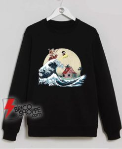 The great of Kanagawa x dragon ball Sweatshirt - Parody Sweatshirt - Funny Sweatshirt