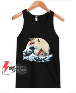 The-great-of-Kanagawa-x-dragon-ball-Tank-Top---Parody-Tank-Top---Funny-Tank-Top