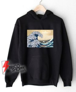 The great wave Kanagawa Cat - Parody Hoodie - Funny Cat Lover Hoodie