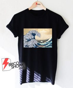The great wave Kanagawa Cat - Parody Shirt - Funny Cat Lover