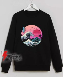 The great wave Kanagawa Cat Sweatshirt – Parody Sweatshirt – Funny Cat Lover Sweatshirt