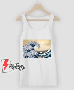 The great wave Kanagawa Cat Tank Top - Parody Tank Top - Funny Cat Lover Tank Top