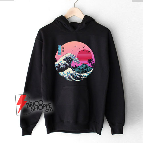 The great wave Kanagawa Retro Hoodie – Funny Hoodie On Sale